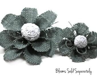 Flower Hair Clip, Gray Flower Hair Clip, Girl's Flower Hair Clip, Hair Accessories