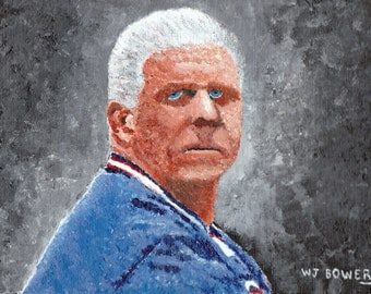 """Bill Parcells """"The Big Tuna"""" Painting Reproduction 6x9"""