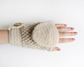 Free Crochet Patterns Flip Top Mittens : Popular items for wool gloves on Etsy