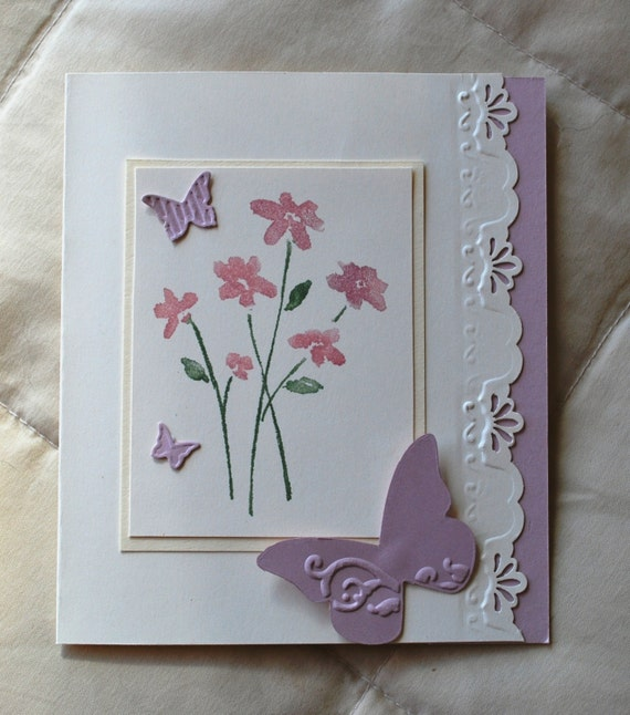 Handmade Card Butterfly Mothers Day Birthday Wedding