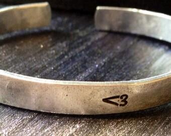 "Engraved bracelet, Personalized Bracelet, Cuff Bracelet, quote bracelet 1/4"""