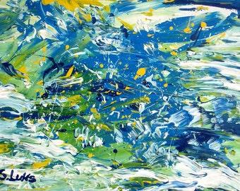 "DOT.DOT - Original Modern Abstract Wall Decor Painting, size: 19"" X 28"" (50 X 70 cm)"