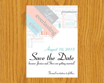 Digital save the date template overlays wedding photoshop for Electronic save the date templates