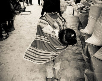 Sisterly Love in the Tarabuco Market, Bolivia