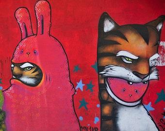 Street Art in Guadalajara Mexico - Tiger Bunny