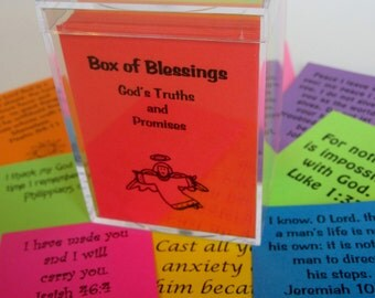Box of Blessings 200 Scripture Cards Encouragement Bible Verse Cards Memory Verses Graduation Gift Easter Inspirational