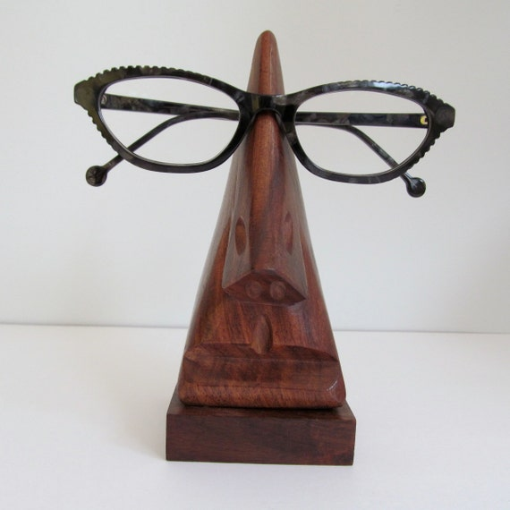 wooden eyeglass holder vintage mid century by
