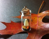 Miniature Ghost, in a Bottle, Halloween, Ghost, Polymer Clay Ghost, Halloween Decor, Miniature Halloween Art, Halloween Diorama, Tiny Ghost - ChikoCraft