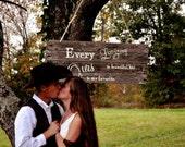 Handmade Rustic Wedding Signs