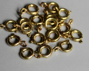 100pcs Raw Brass Clasps Necklace Findings 7mm  - F286