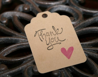 Thank You Kraft Tags, set of 10