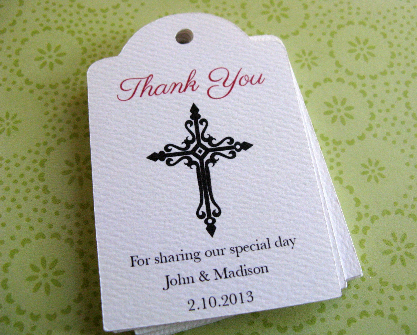 Baptism Favor Tags Personalized Cross Gift Tags By