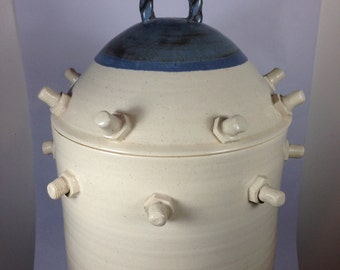 Lidded jar.  Large with nuts & bolts