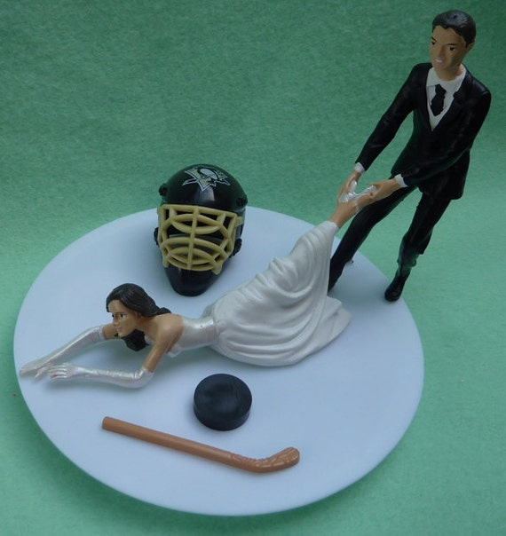 Pittsburgh Penguin Wedding Cake Topper