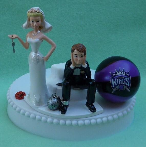 wedding cake topper sacramento kings basketball themed ball. Black Bedroom Furniture Sets. Home Design Ideas