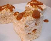 The Fluffernutter - Peanut Butter Ripple Marshmallows  - 1 dozen Gourmet homemade marshmallows