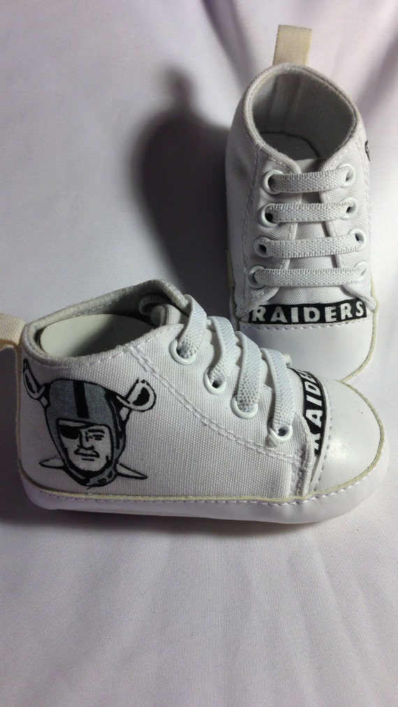 Loley pops creations - Oakland Raiders shoes for boys