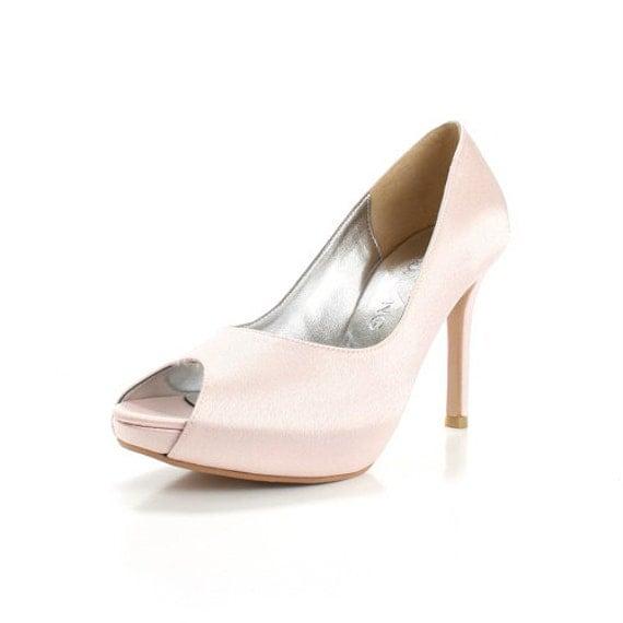 custom made blush satin high heels satin by christyngshoes