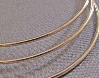 6 -  14K Gold Filled Soldered Smooth Bangles