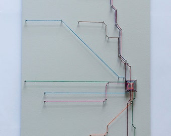 Chicago String Art- Transit Map (Gray)