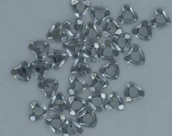8mm Clear Heart Rhinestones