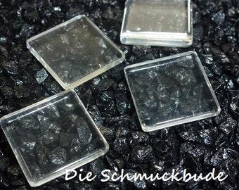 D-03501 - 4 Cabochons Glas 20x20mm