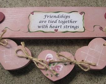 9129B - Friendship heart strings Mauve