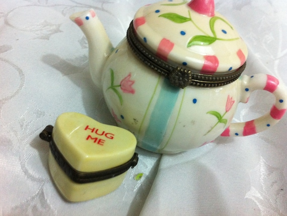 RESERVED Teapot only trinket box
