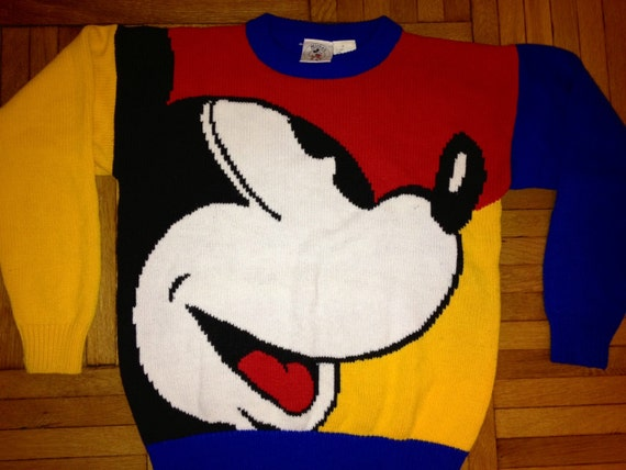 Vintage Walt Disney Colorblock Mickey Mouse Dope By