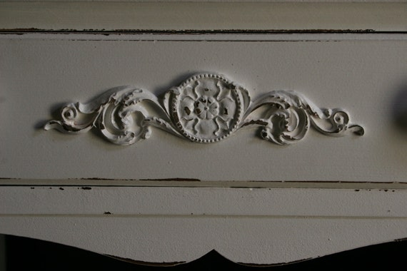 DIY Shabby Chic Applique   Furniture Applique   Onlay   Furniture Moulding    Architectural Molding
