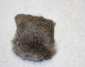 Rabbit fur cat toy--small