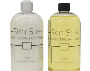Skin Spa Moisturizing Bodywash & Bath Oil Set
