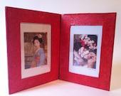 Handmade double photo frame. Japan in a pocket.