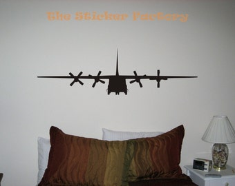 C-130 Military Airplane Vinyl Wall Art Decor Decal Stickers