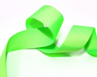 5 YRD of Green Solid Trim Ribbon 0.7 '' for Crafts, Sewing , Accessories
