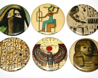 Ancient Egypt - Set of 6 Large Fridge Magnets