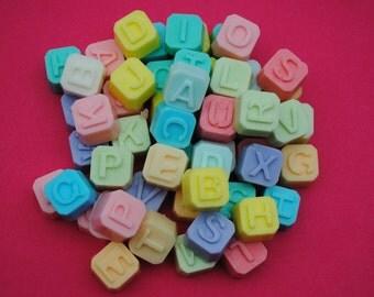 alphabet  novelty soap tiles x 26