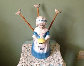Ceramic Granny Utensil Holder