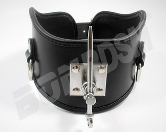 Bondage Restraint Leather Posture Collar with a Strong metal Nail - SUPERIOR QUALITY, bdsm restraints for fetish slave, Mature