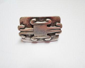 Tribal Tube Slider 30x19mm Antique Silver for Licorice leather bracelets