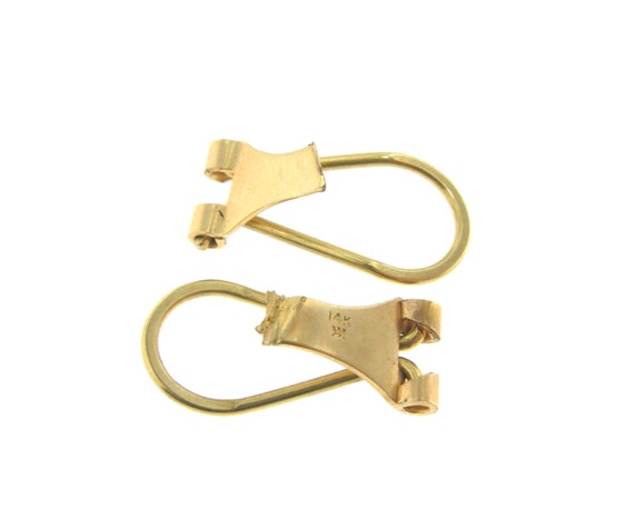 real 14k 14kt yellow gold omega clip for by