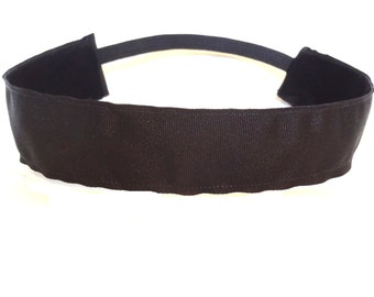 non slip headband Black Grosgrain  1.5 ""