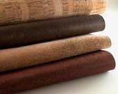 Cork Fabric - Cork Leather - Eco-friendly Vegan - Brown Color - 0.7 x 0.5 meters / 27.6 x 19.7 in ( CK8 )