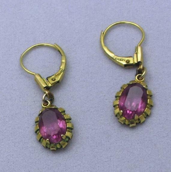 vintage jewelry delicate retro style anson pierced earrings