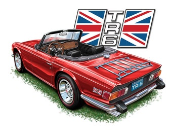 Triumph TR-6 Print in a choice of body colors
