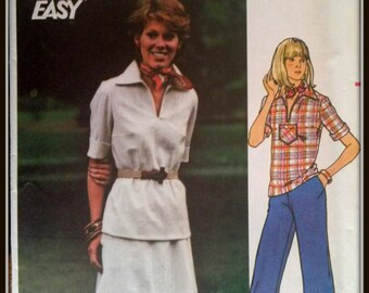 Butterick  4695  Fast And Easy  Misses' Top, Skirt And Pants  Size 12  Uncut