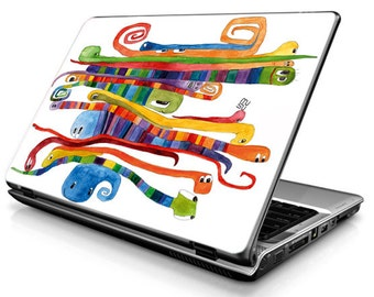 Laptop Decals - Laptop Skins - Laptop Stickers - Laptop Vinyl - Worms