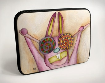 Lollipop-eyed rabbit - Laptop Case - Laptop Bag - Laptop Sleeve
