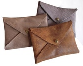 Business Card Leather Holder, Envelope Card Case, leather wallet,, small walletgift under 10 - Buyairsupply