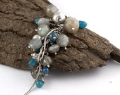 Labradorite Apatite Sterling Silver Necklace Pendant Grey Blue Gemstone Everyday Wire Wrapped Dangle Long Necklace Silvergallerycomau